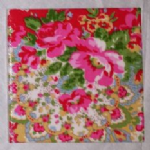 Ceramic Wall Tiles Made With Paisley by Cath Kidston in Red